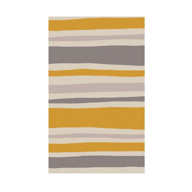 {Shifting Sands Area Rug in Burnt Orange, Taupe, and Gray | under $100 | dotandbo}