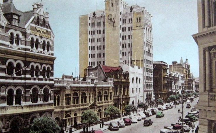 Beautiful view down St George's Tce, 1940s
