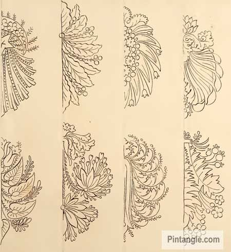 Free Hand Embroidery Patterns In Old French Design Book