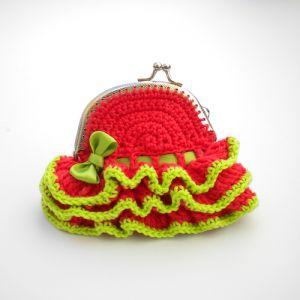 patron del monedero a crochet