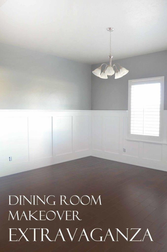 Perfect Tutorial on how to do wainscoting!  Dining Room Makeover Extravaganza