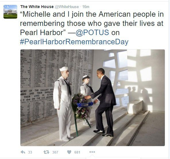 """Obama White House Press Secretary: """"Embittered"""" Pearl Harbor Survivors Need to Get Over It"""
