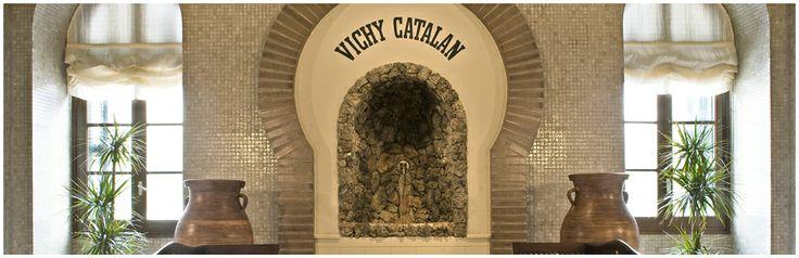 La fuente de agua mineral natural carbónica Vichy Catalán, en el interior del Balneari Vichy Catalán, en Caldes de Malavella (Girona)