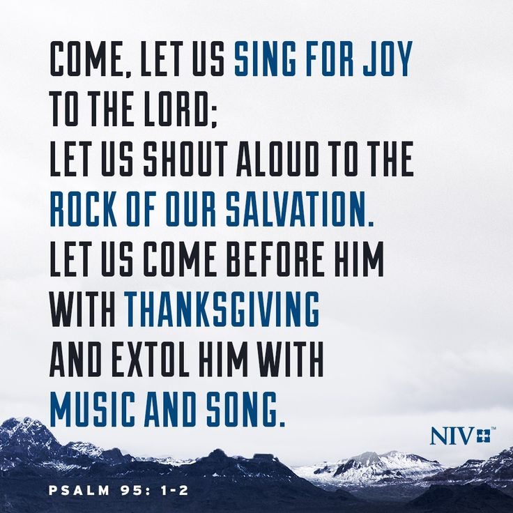 NIV Verse of the Day: Psalm 95 1-2