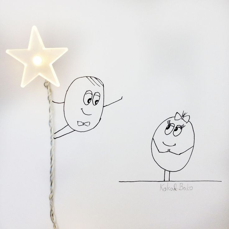 I'll give you this star :)  http://instagram.com/kokoandboko #kokoboko #love #story #star #decoration #garland #smile #happy #art #illustration #drawing #newyear #christmas #girl