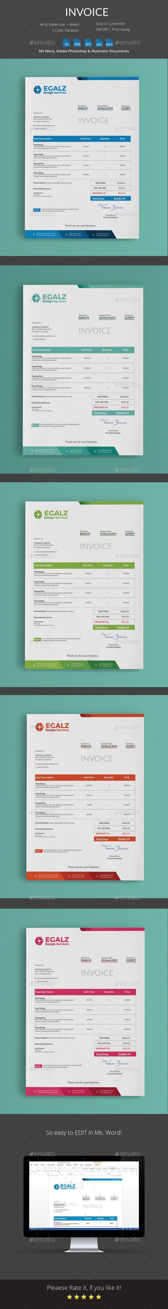 Invoice u2014 Photoshop PSD invoice minimal bill