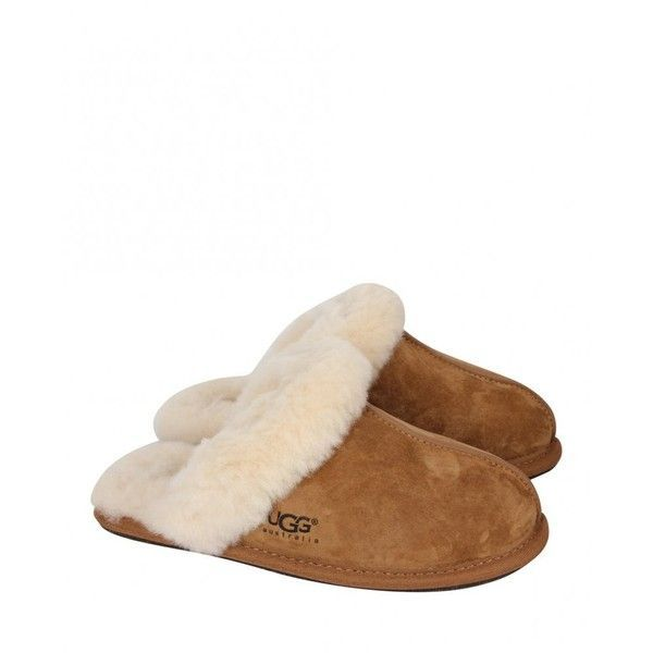 Ugg Australia Womens Chestnut Scuffette Ii Silkee Suede Mule Slippers found on Polyvore