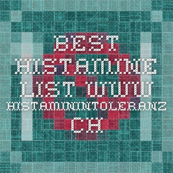 BEST FOOD HISTAMINE LIST        www.histaminintoleranz.ch