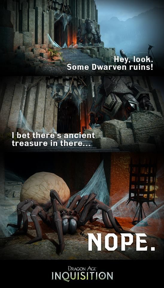 Dragon Age and... spiders.