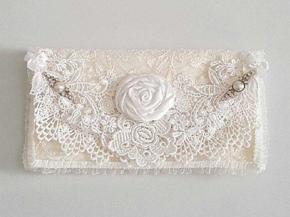 Bridesmaid Purse , Rose Wedding Purse , Bridesmaid Gift , Wedding Clutch , Bridal Clutch , Wedding Purses , Fold Over Purse , Fabric Purse