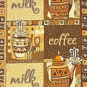 """Для дома и интерьера ручной работы. Ярмарка Мастеров - ручная работа Полотенце """"Кофе с молоком"""" вафельное кухонное.. Handmade."""