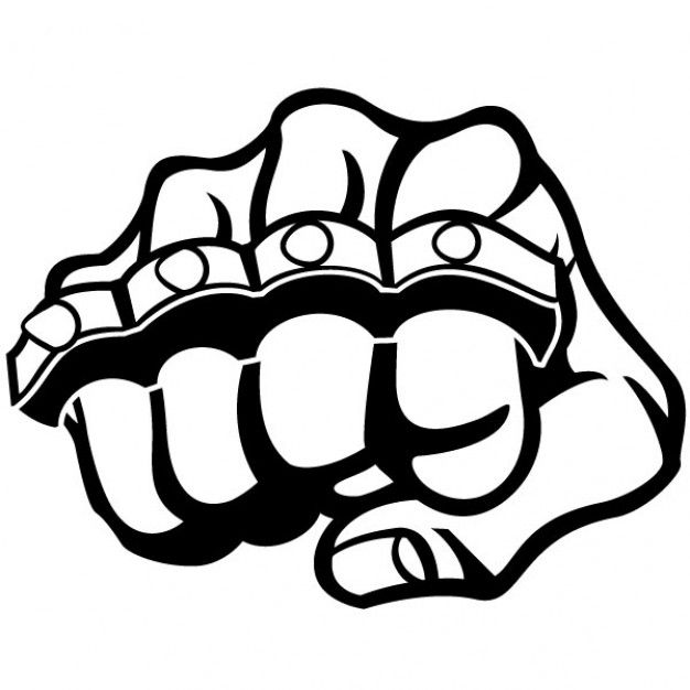 Download Fist And Metal Knuckle Illustration For Free Stencil Graffiti Vector Free Art