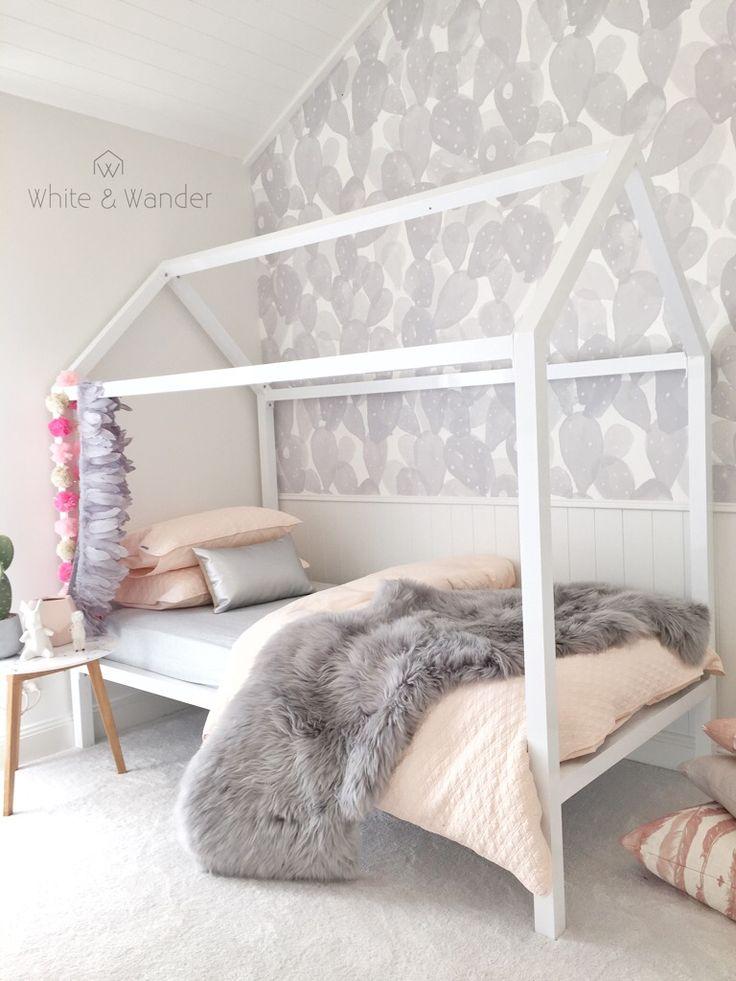 Pink and grey bedroom from threebirdsrenovations