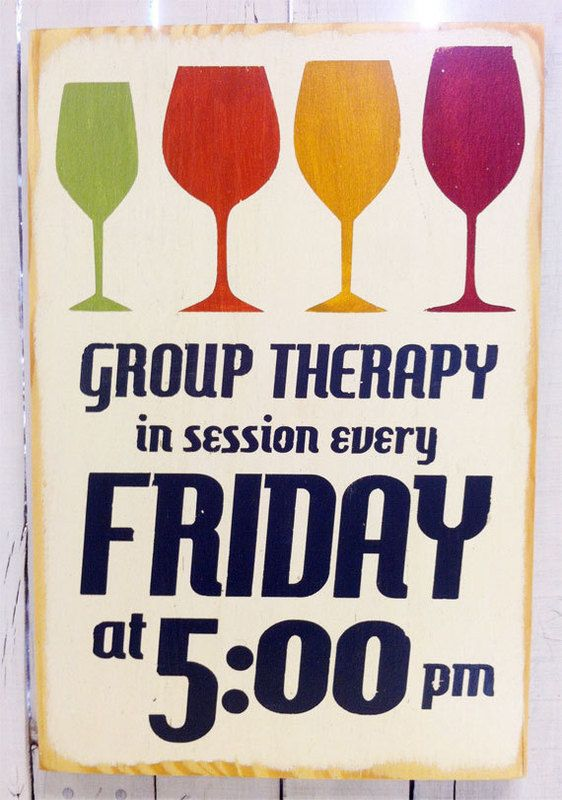 Group Therapy Distressed Wood Sign
