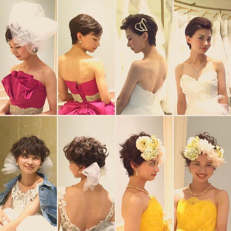 いいね!749件、コメント3件 ― YU-Uさん(@nyan22u22nyan)のInstagramアカウント: 「♡wedding hair&make♡ 今回はショートヘアの4変化☻ dressに合わせて自分らしく楽しもう! みんなをびっくりさせる変化もオススメです♡ dress……」