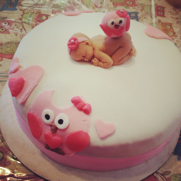 baby shower cake (girl)