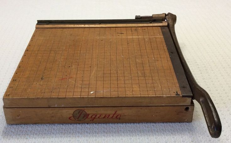 Vintage Ingento No 4 Guillotine Paper Cutter Trimmer 12x12 #Ingento