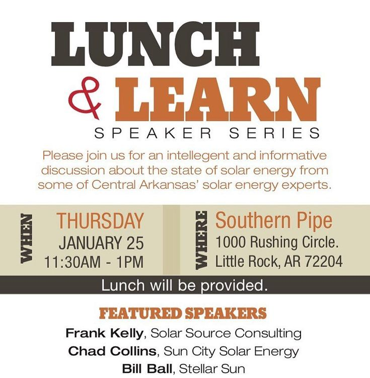 Our Lunch & Learn: Speaker Series are always fun and informative! Last week's speakers included Rank Kelly of @suncitysolar1 Chad Collins of Solar Source Consulting. and Bill Ball of Stellar Sun. . Thank you Southern Pipe & Supply for hosting this event! And thank you @hba_glr  @southernbathandkitchen for helping to sponsor this event along with the support of our speakers. We can't wait for the next one! . . . . . #centralarkansas #arkansas #n2publishing #n2pub #magazine #publication…