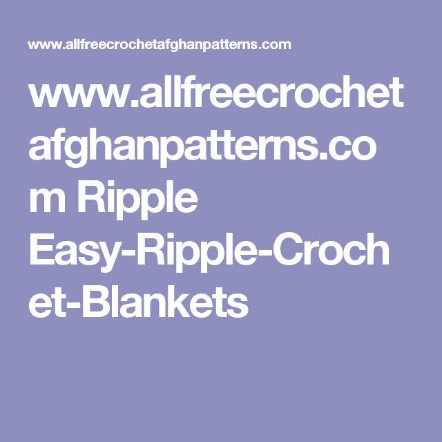 www.allfreecrochetafghanpatterns.com Ripple Easy-Ripple-Crochet-Blankets