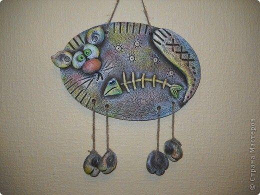 Картина панно рисунок Лепка Нашествие котов Тесто соленое фото 3