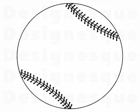 Baseball Outline Svg Softball Svg Baseball Clipart Baseball Etsy In 2021 Softball Svg Baseball Videos Baseball Card Values
