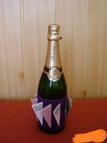 Svatební dar peníze šampus