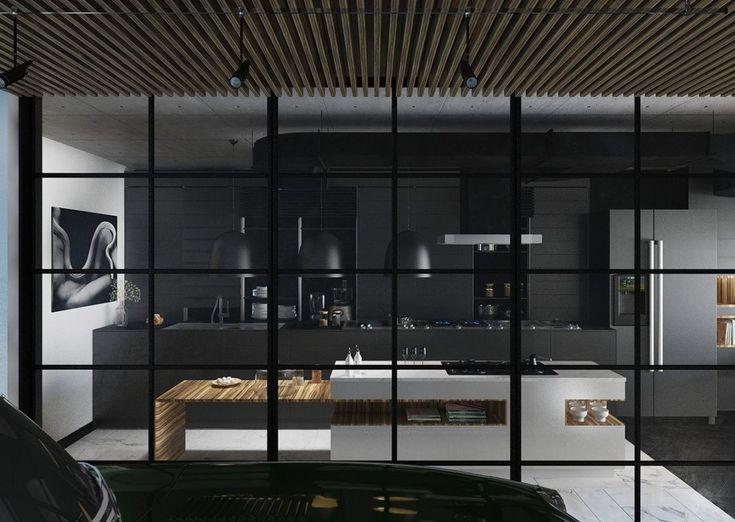 36 cuisines noires à reproduire chez vous | Blog Deco Tendency