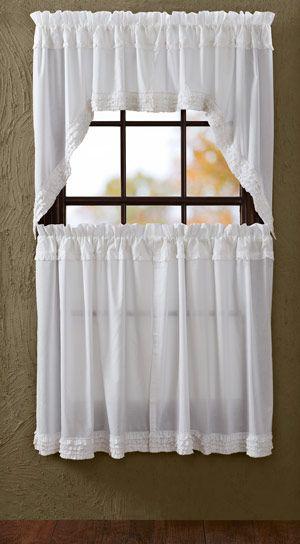 17 Best ideas about Tier Curtains on Pinterest | Kitchen window ...