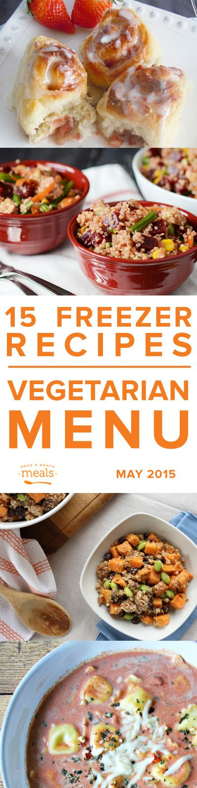 Vegetarian May 2015 | Once a Month Meals | Freezer Cooking | Freezer Meals | Custom Menus | Menu Planning