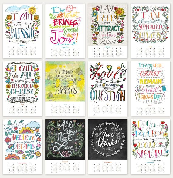Inspirational Quotes Calendar : Best images about my etsy on pinterest sketchbooks