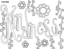 kindness word doodles motivational coloring pages