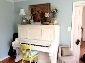 Have you seen those darling pictures of painted pianos on Pinterest? I love how they look - but who in their right mind would paint the...