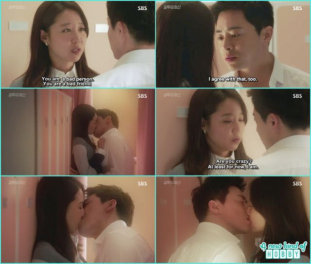 hwa shin kissed na ri  in the men changing room it was raining outside - Jealousy Incarnate - Episode 14 Review