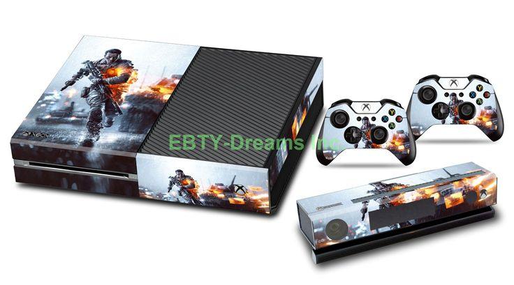 Ebty dreams inc microsoft xbox one battlefield 4 video game vinyl skin