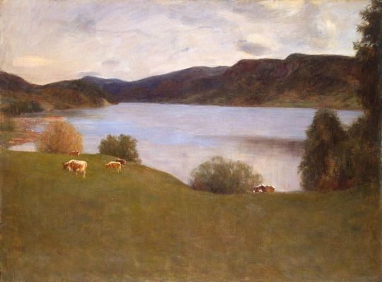 Landscape with a lake, 1895, Erik Werenskiold