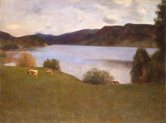 Landscape with a lake, 1895, Erik Werenskiold
