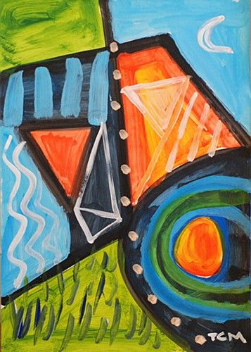 "TC Murphy, ""The Hillside, Newgrange Series"" #art #painting #abstract #Newgrange #Ireland #DukeStreetGallery"