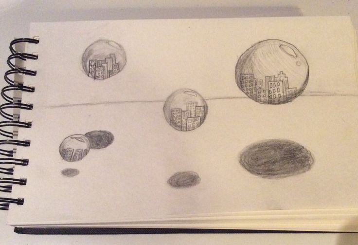 a little drawing * bubbles of New York * made by Caroline L.K