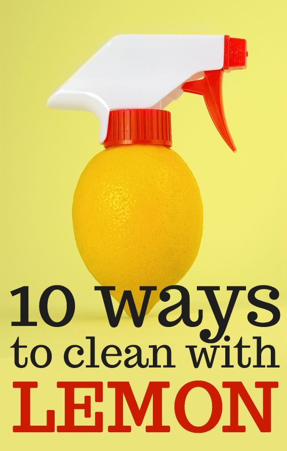 10 Ways to clean with lemon #tips #cleaning