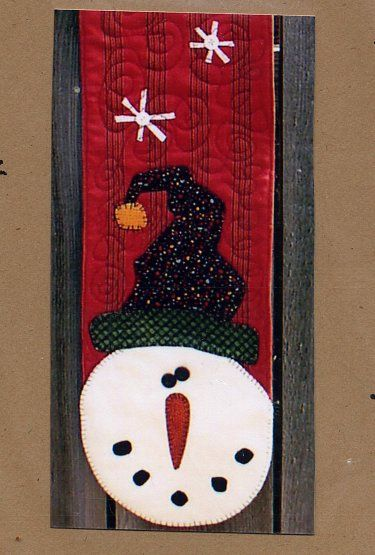 Snowman WallhangingSnowman Wallhangings, Snowmen, Appliques Christmas, Runners Ideas, Someday Ideas, Events Ideas, Mindfulness Appliques, Crafty Ideas, Appliques Book