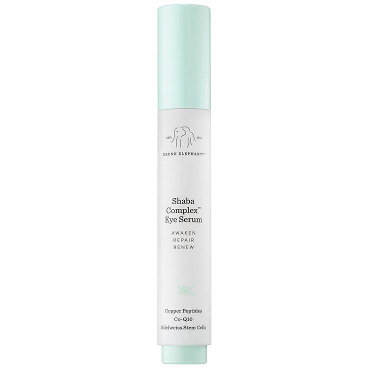 This powerful anti-aging serum from Drunk Elephant uses black-tea ferment and copper peptides to battle signs of aging such as wrinkles, dark circles, and puffiness. The serum helps to support collagen and elastin production and bring back the radiance to your undereyes.Drunk Elephant Shaba Complex Eye Serum, $85, available at Sephora.  #refinery29 http://www.refinery29.com/best-under-eye-cream#slide-21