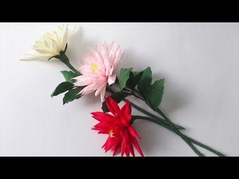 219 best fabriquer des fleurs images on pinterest | crepe paper