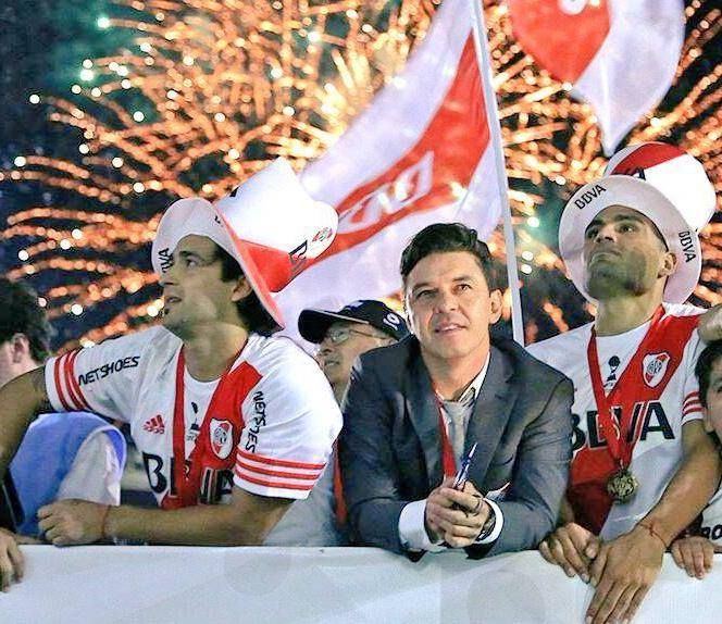Pisculichi, Gallardo y Mercado. River Campeón Copa Sudamericana. 10/12/14