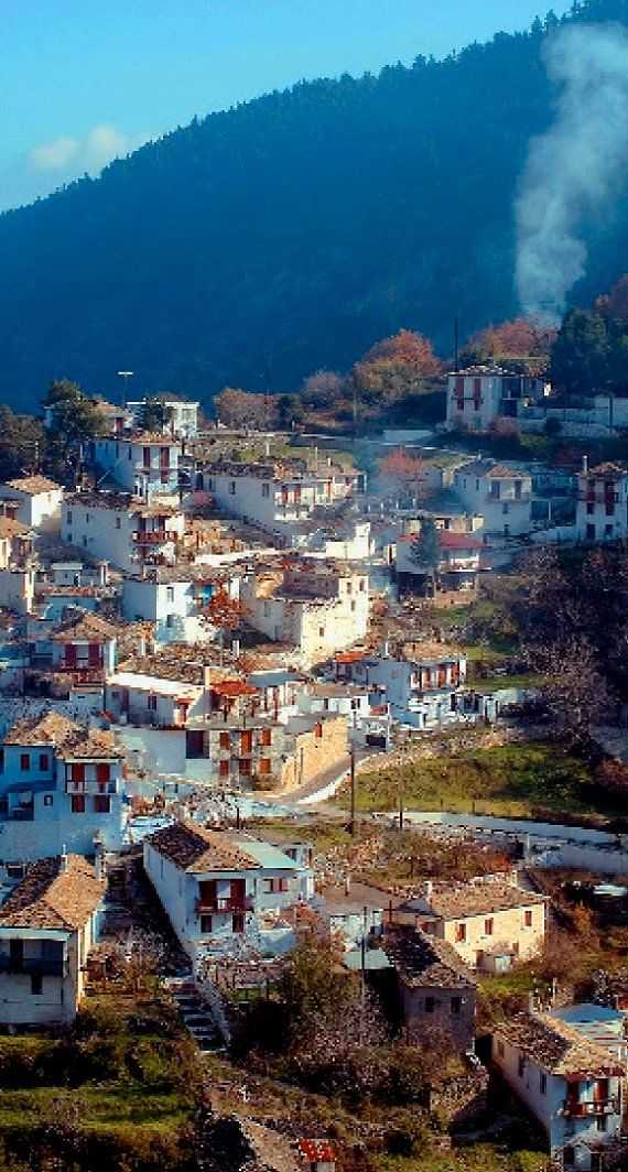 Kastanitsa is the most picturesque villages of Parnona mountain, Arcadia, Greece
