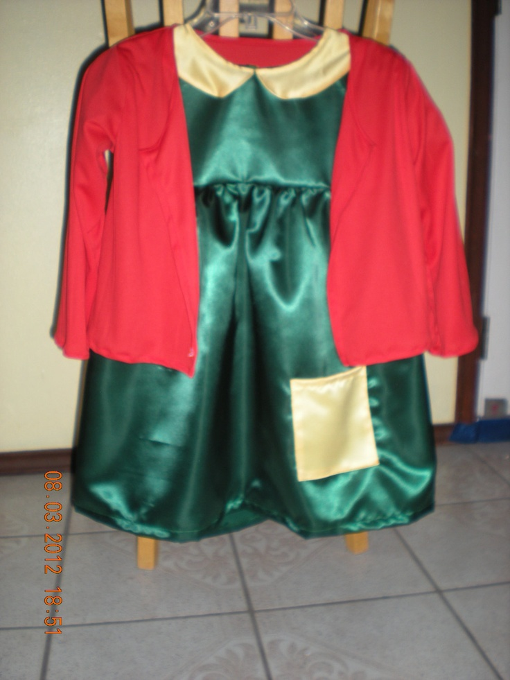 Costumes of the Chilindrina 3 pieces dress jacket by TalyDesigns, $42.00