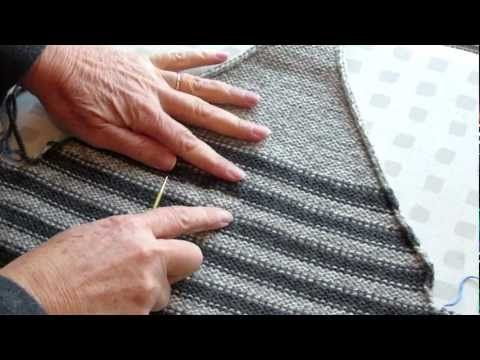 ▶ Splitting knit fabric into two pieces, a very quick trick - YouTube. Lets you save both halves--very good when you don't want to have to unravel either piece.