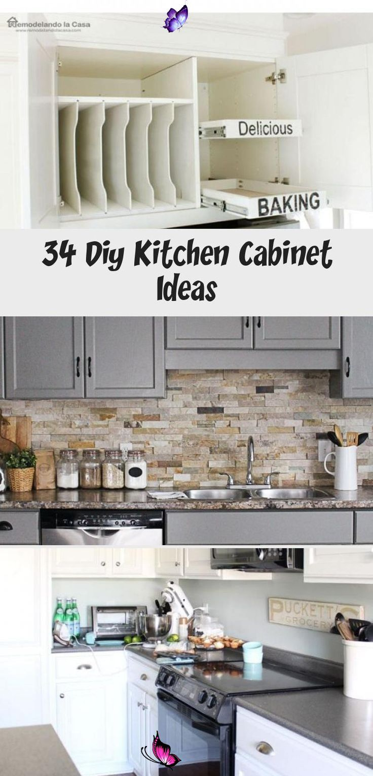 34 Diy Kitchen Cabinet Ideas Erin S Blog Diy Kitchen Cabinets Cabinet Towel Bar In 2020 Diy Kitchen Cabinets Diy Kitchen Cabinets Makeover Cheap Kitchen Cabinets