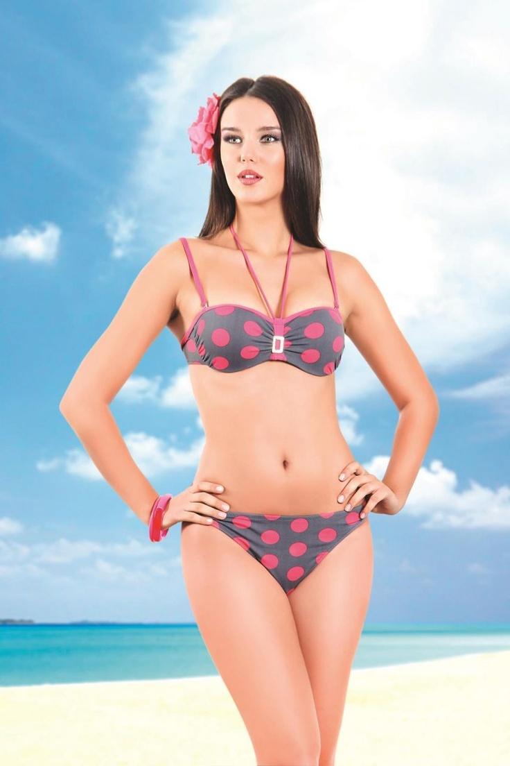 NBB Puantiyeli Straplez Bikini