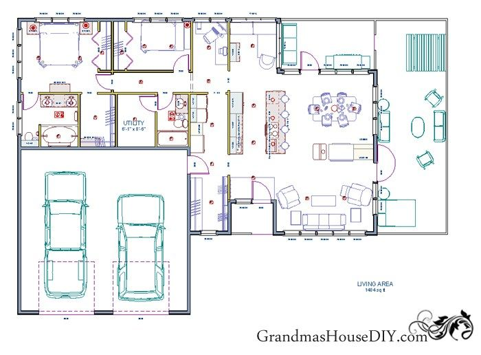 Best 25 free house plans ideas on pinterest my house plans an easy going one story ranch free house plan with two bedrooms and only 1500 solutioingenieria Image collections
