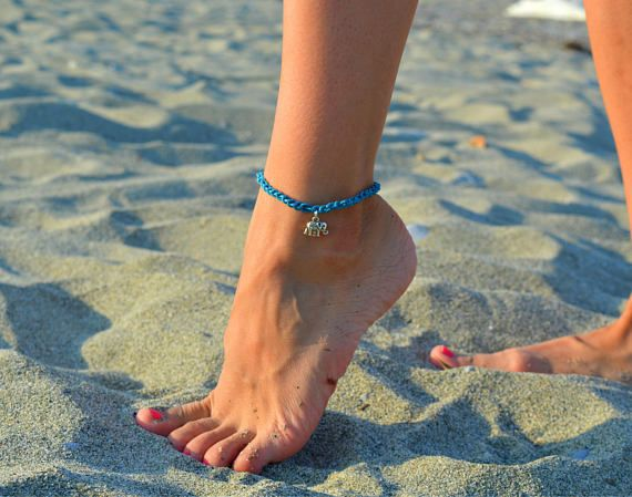silver elephant anklet, beach anklets, ankle bracelet for women, summer anklets, silver anklets, anklets for women with elephant charm boho